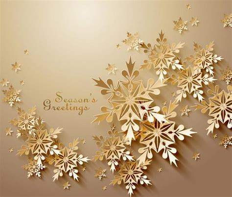 golden snow blessing card vector picture ai
