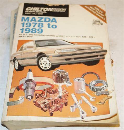 free download parts manuals 1989 mazda mx 6 windshield wipe control buy 1978 1989 mazda rx 7 glc 323 626 929 mx 6 service repair shop manual chilton motorcycle in