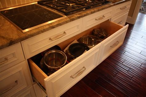 kitchen cabinets with drawers pan drawer traditional kitchen cleveland by architectural justice
