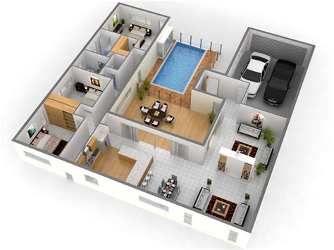 free 3 bedroom 3d house plans this for all