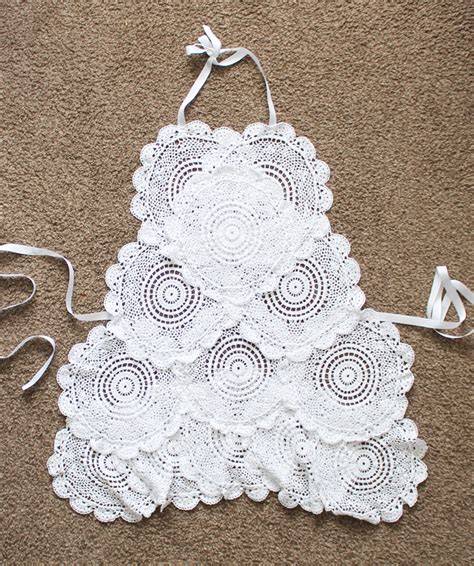 doily crafts for diy apron with lace doilies crafts unleashed