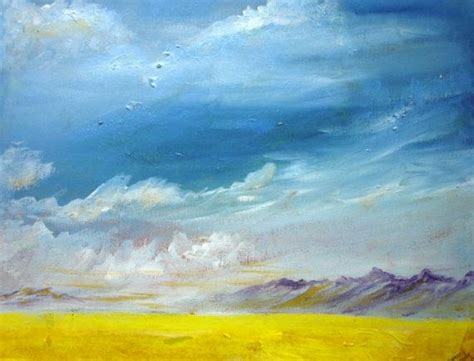 acrylic painting sky acrylic painting of a big sky with clouds moving in
