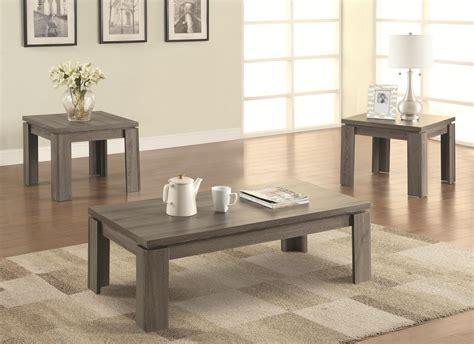 coaster 701686 grey wood coffee table set a sofa