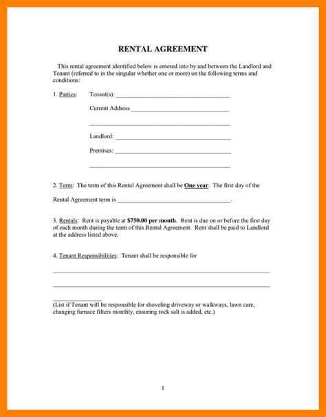 10 one page lease agreement resumes great