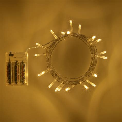 battery lights 20 led warm white battery operated lights