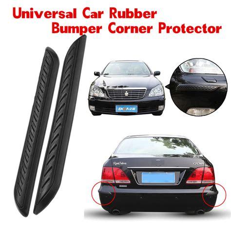 car rubber st 2pcs car rubber bumper corner protector door guard cover lip crash bar trim kit ebay