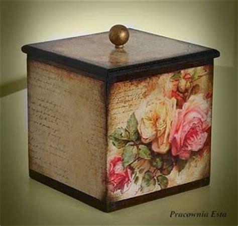 decoupage vintage pracownia esta decoupage pojemnik r 243 że vintage cajas