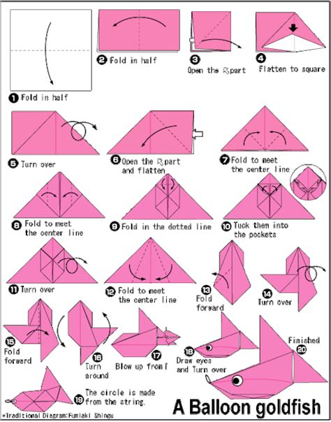 directions for origami origami