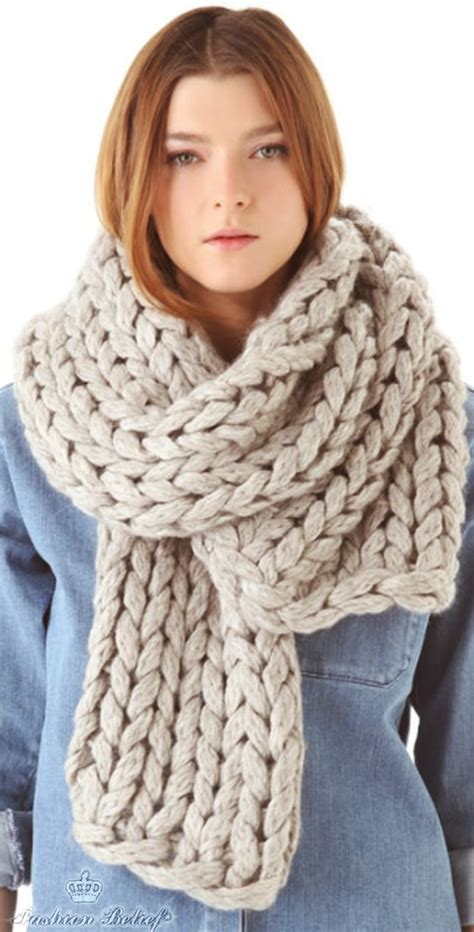how to knit a winter scarf knitted scarf fashion belief