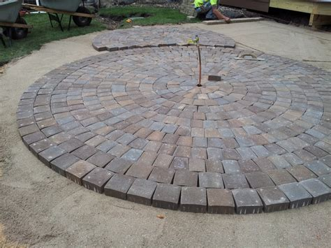 circular patio pavers circular paver patio modern patio minneapolis by