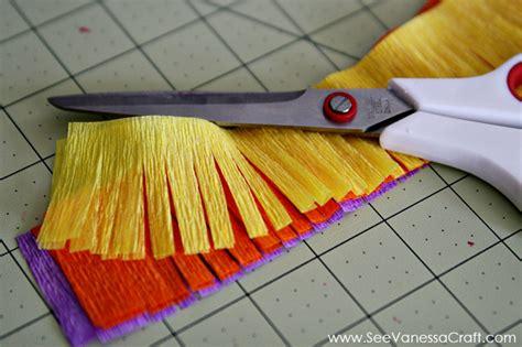 crepe paper craft craft tutorial diy cups see craft