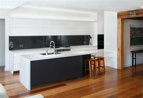 black and white kitchens black and white contemporary kitchen completehome