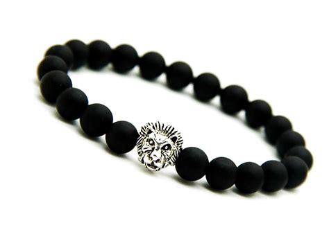 black bracelet matte black onyx bracelet silver bracelet mens onyx