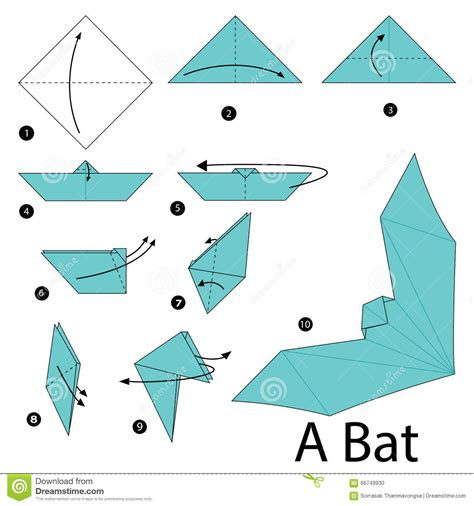 how to make paper animals origami step by step how to make origami a bat stock
