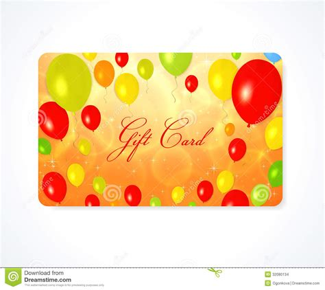 gift card discount card business card balloon stock