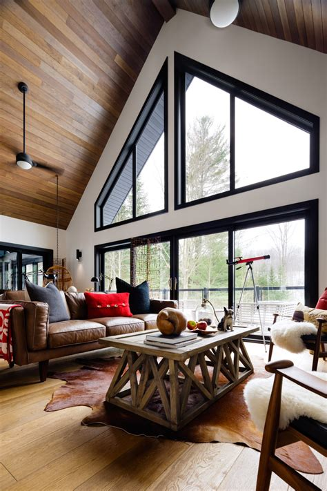 before after modern cottage in before and after a designer cottage in haliburton county