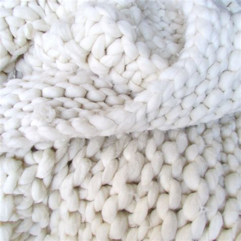 how to knit chunky blanket chunky knit 50x90 merino wool throw blanket by