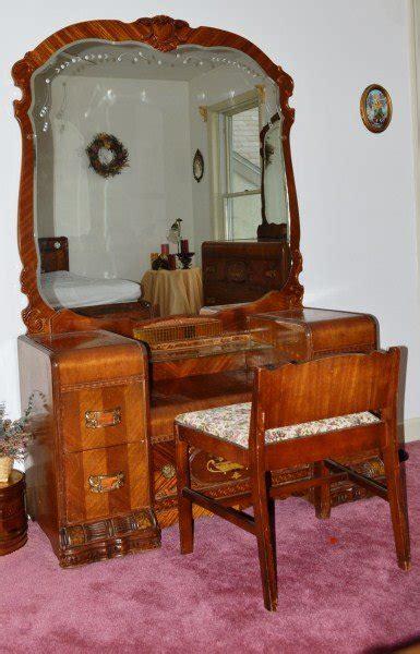 1920s bedroom furniture 1920 s waterfall bedroom set lot 400