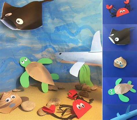 paper animals craft paper sea animals craft 171 funnycrafts