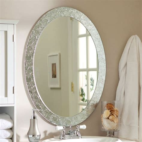bathroom mirrors oval oval frame less bathroom vanity wall mirror with