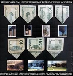 origami theory 9 11 prediction us dollar origami illuminati symbols