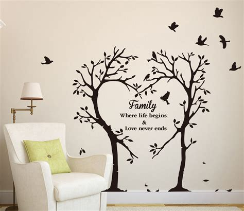 wall decor tree stickers large family inspirational tree wall sticker
