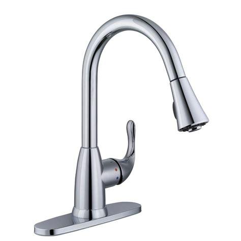 glacier kitchen faucet glacier bay market single handle pull sprayer kitchen