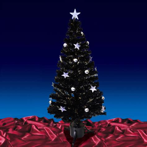 6ft black fibre optic tree 6ft 180cm black fibre optic tree with warm
