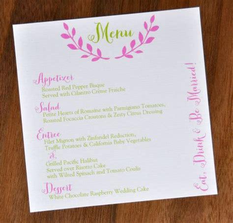 how to make menu card square menu cards wiregrass weddings
