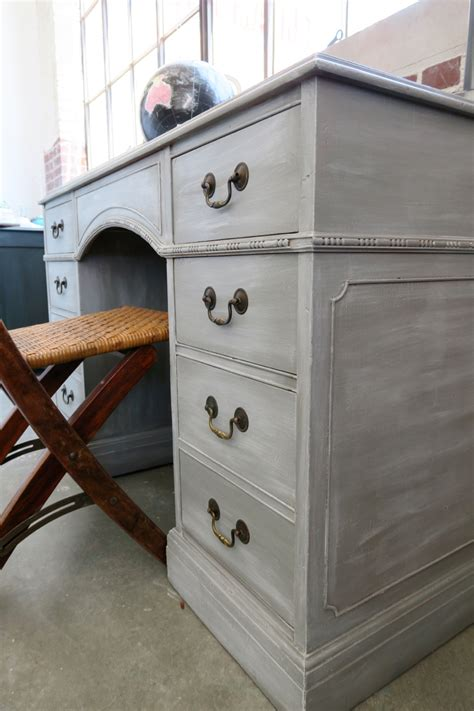 chalk paint white georgeous gray desk using white wax on furniture white