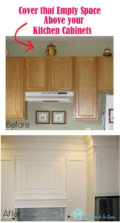 area above kitchen cabinets remodelando la casa closing the space above the kitchen