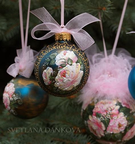 decoupage baubles rustic ornament bandana country