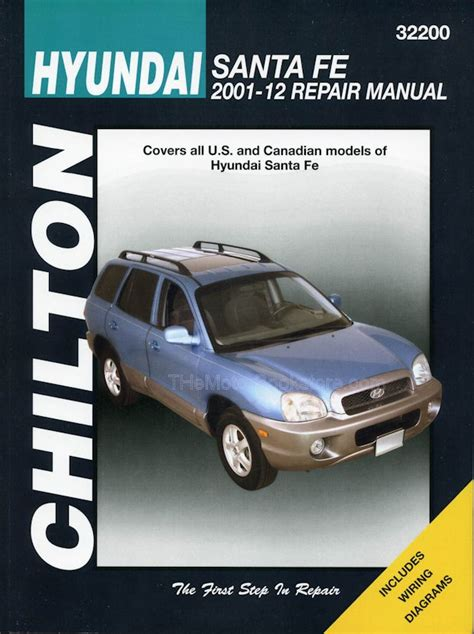 motor repair manual 2012 hyundai santa fe interior lighting hyundai santa fe repair manual 2001 2012 chilton 32200