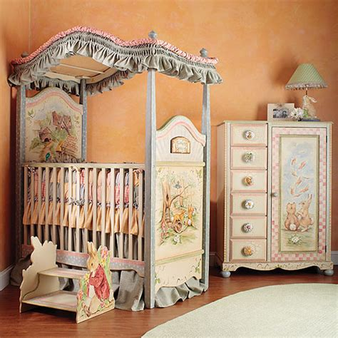 carrot collection canopy crib and bedding and nursery