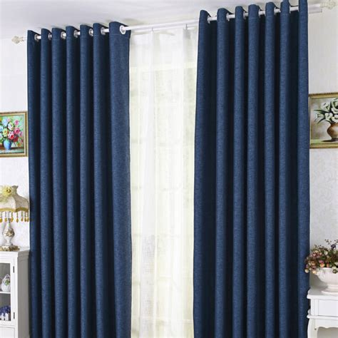 modern bedroom curtains modern linen cotton blue blackout bedroom curtains