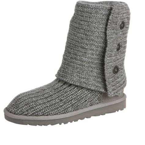 knitted uggs 40 ugg boots grey knit ugg boots from nicolette s