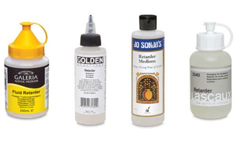 acrylic paint retarder medium acrylic mediums guide learn about mediums and additives