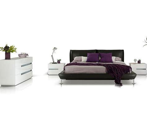 modern platform bedroom sets modern style bedroom set w grey leather platform bed