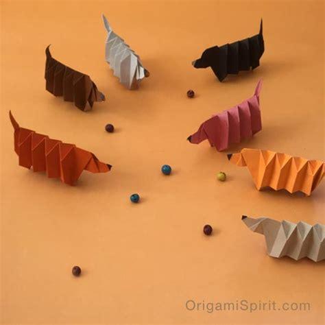 dachshund origami origami version of slinky a dachshund