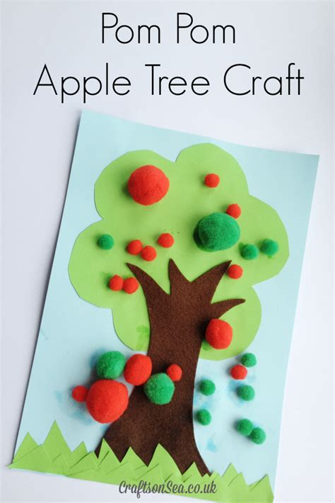 tree preschool craft pom pom apple tree craft crafts on sea
