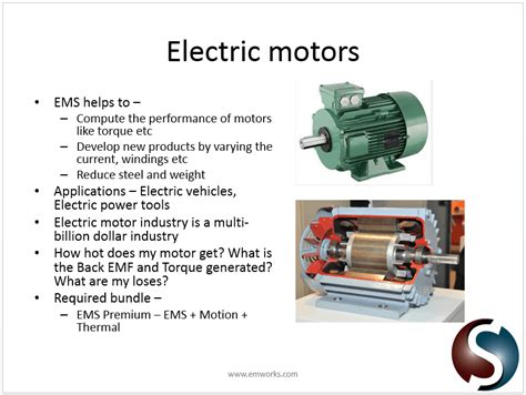 Application Of Electric Motor by Solidworks Electro Mechanical Simulation Applications