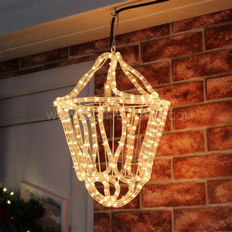 3d rope light clear rope light hanging 3d lantern 33cm