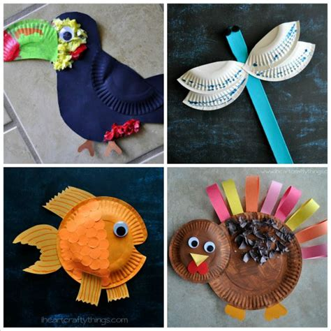 paper animal crafts 20 paper plate animal crafts for i crafty things