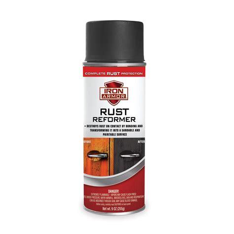 9 Oz Iron Armor 174 Black Rust Reformer Spray Paint