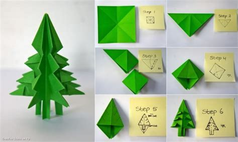 origami paper tree do it yourself tutorials trees decorations