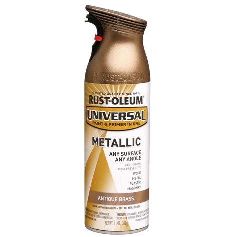 home depot spray paint and primer rust oleum universal 11 oz all surface metallic antique