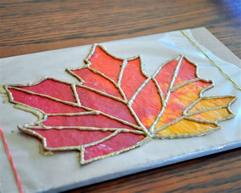 wax paper crayon craft a craft almost anytime of year is stained