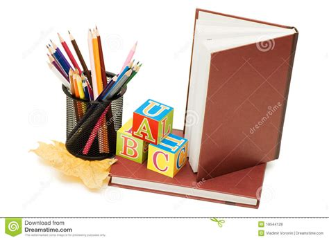 pictures of books and pencils back to school concept with books and pencils royalty free