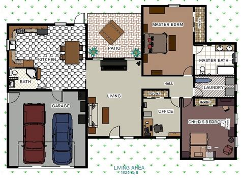 Homedesignersoftware Com creating a floor plan with colors and patterns