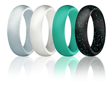 rubber wedding sts silicone wedding ring for by roq set of 4 silicone